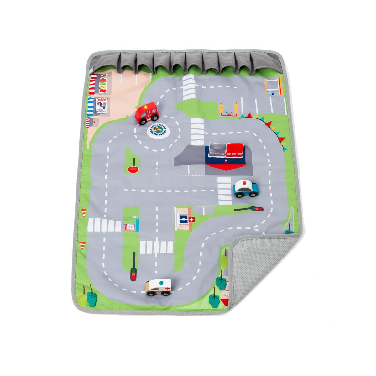 Tapis de route transportable avec voitures