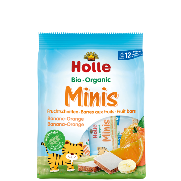 Bio Minis barre aux fruits banane-orange