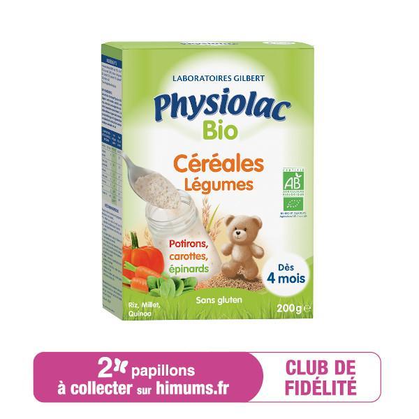 Céréales Légumes BIO PHYSIOLAC