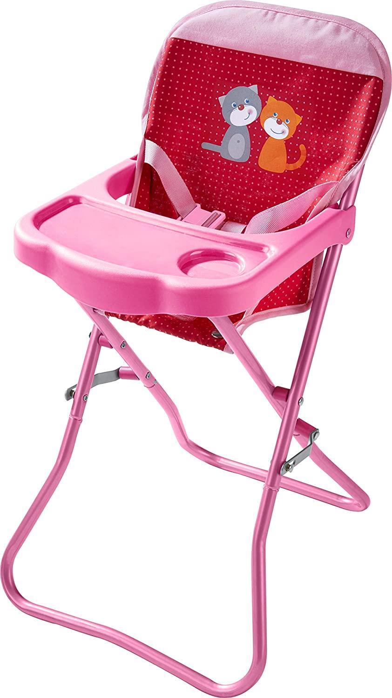 Chaise haute pour poupée Pré fleuri