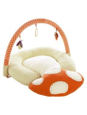Coussin 2 en 1 bebe : allaitement et tapis D'EVEIL