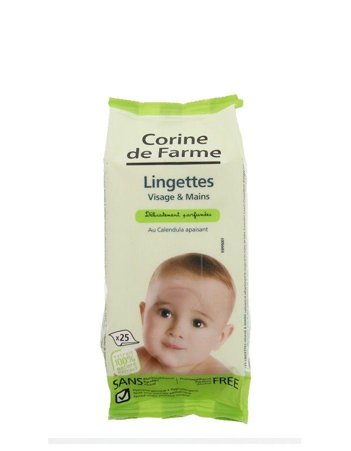 Lingettes bébé Visage et Mains au Calendula Bio