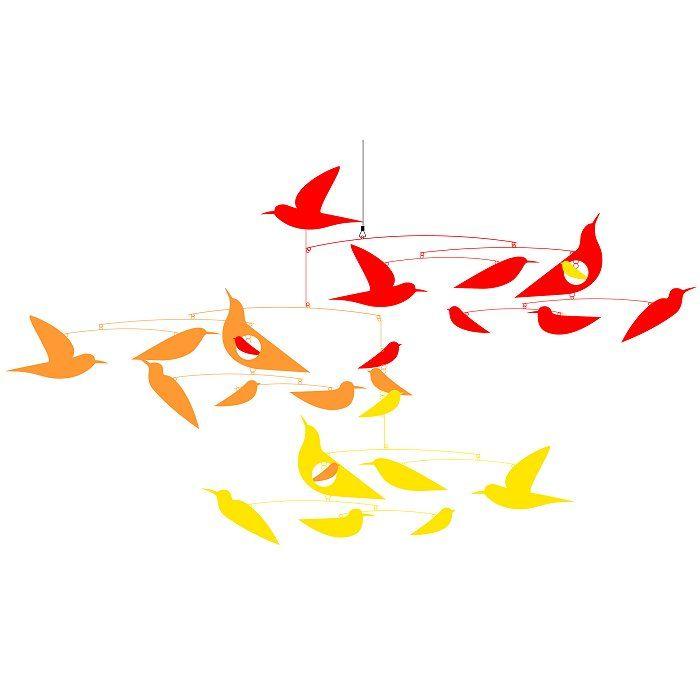 Mobile Katsumi Komagata :  Des oiseaux en harmonie