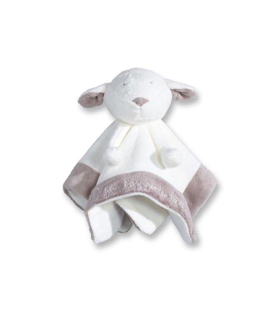 Doudou plat marionnette mouton