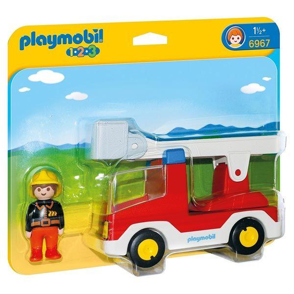 Playmobil 1.2.3 - Camion de Pompiers avec échelle