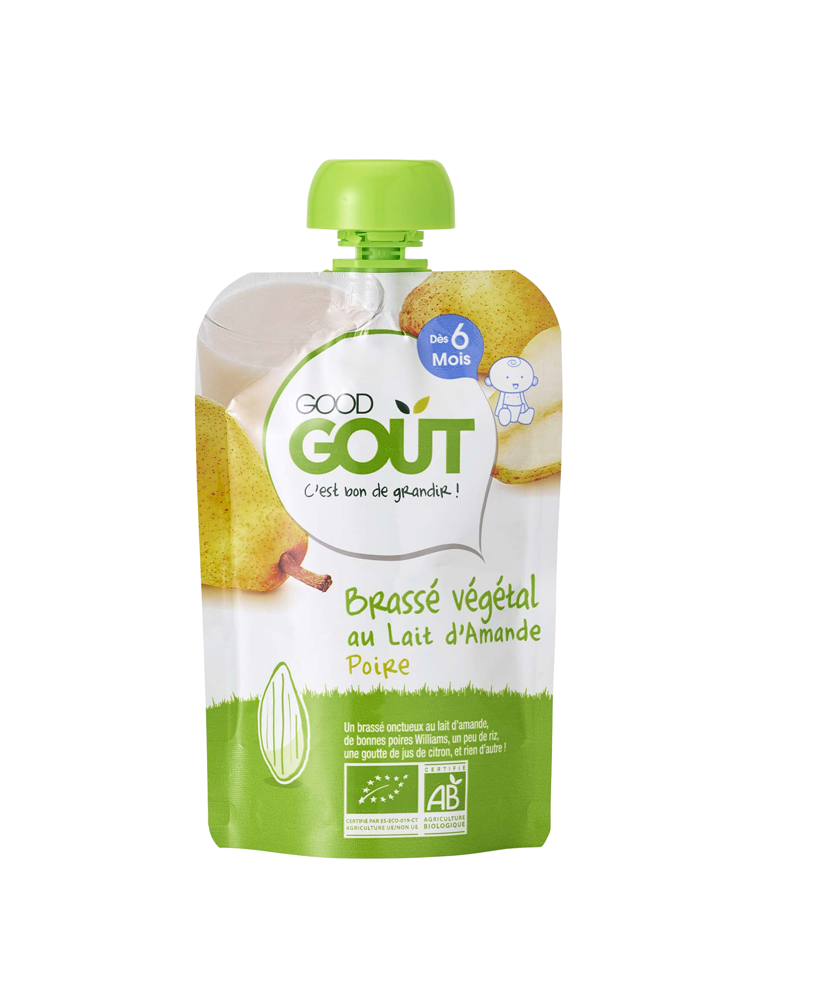 Le Brassé végétal au lait d'Amande Poire GOOD GOUT