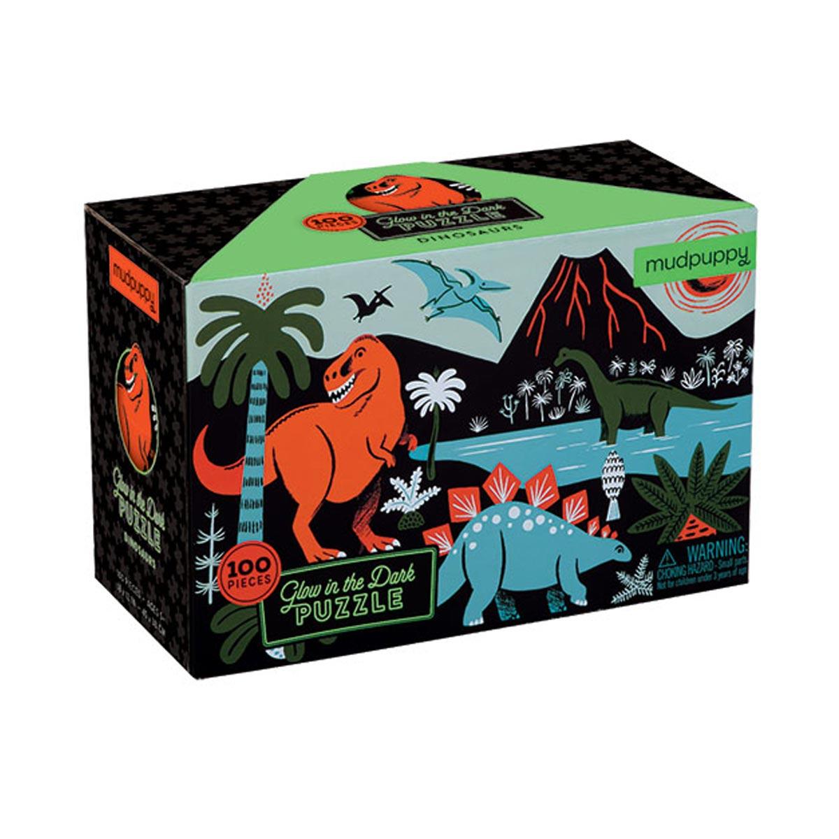 Puzzle phosphorescent Dinosaures 100 pièces