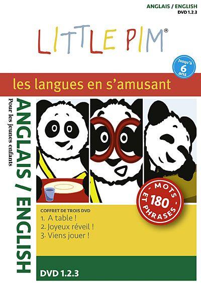 Coffret 3 DVD Langues Little Pim