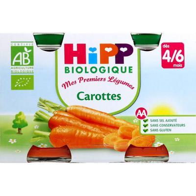 Carottes - 2 pots x 125g - 4 mois HIPP