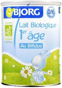 Lait biologique au bifidus 1er âge