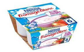 NESTLE P'tit Onctueux fromage blanc fruits rouges