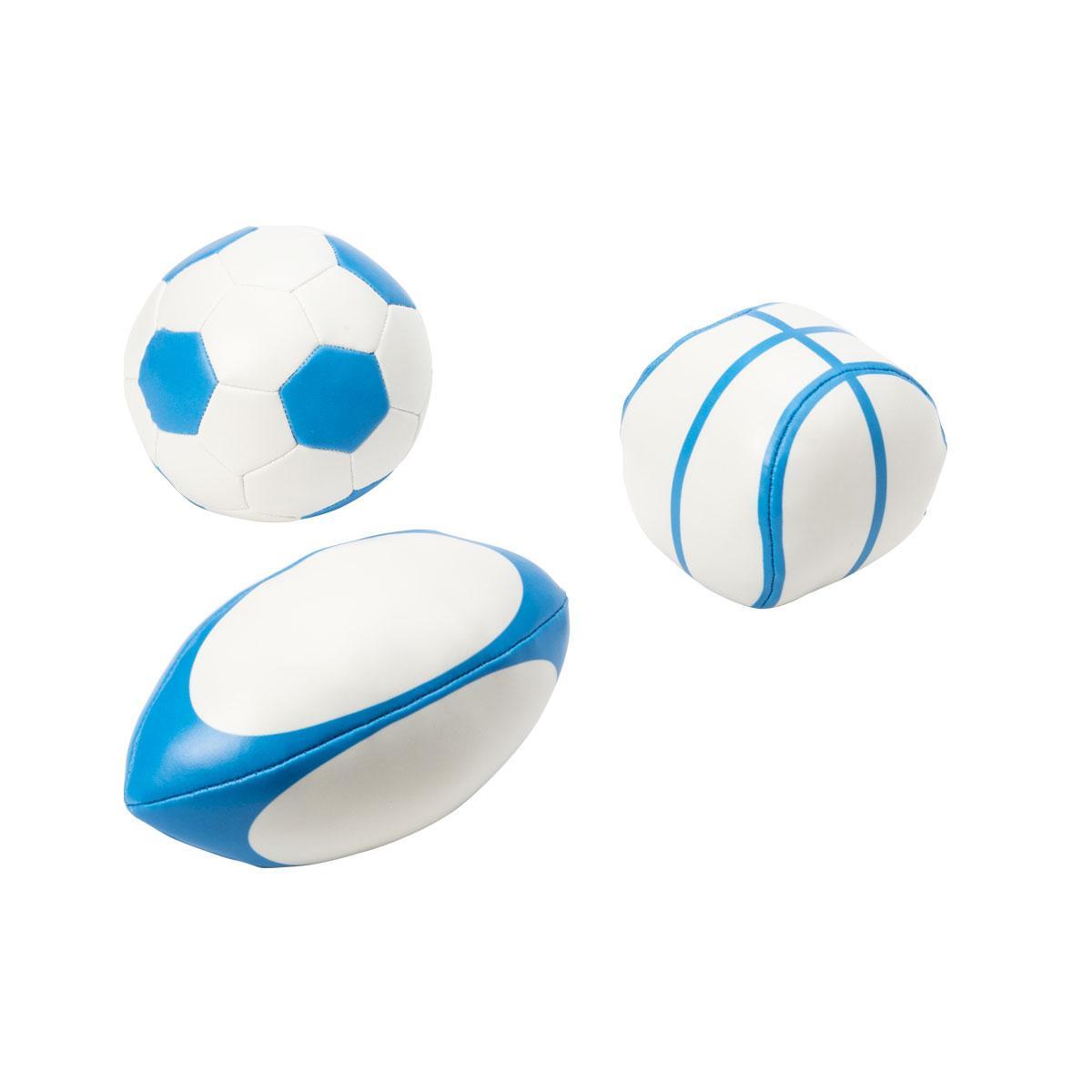 Set de 3 balles de sport
