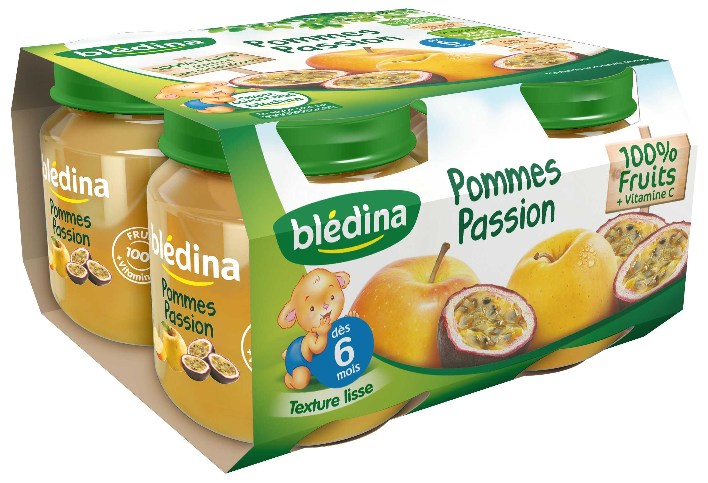 Pot Pommes Passion 4x130g