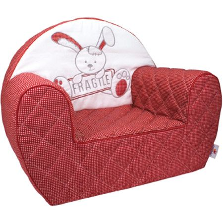 Fauteuil club dehoussable lapin fragile CANDIDE