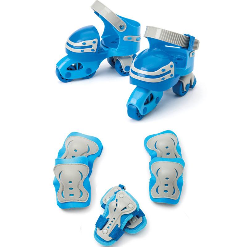 Set premiers patins évolutifs et 3 protections Freebul