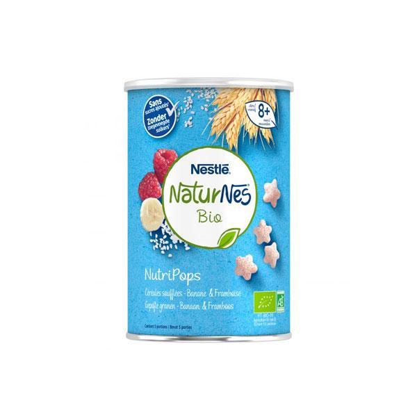 Naturnes - Nutripops Céréales soufflées, banane et framboise