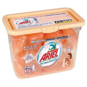 Lessive Ariel Ecodose Derma sensitive (22 doses)
