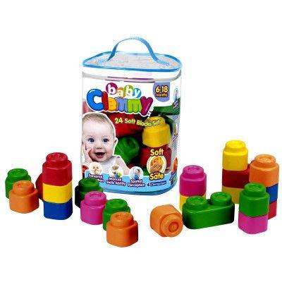 Cubes souples Baby Clemmy : Sac de 24 cubes CLEMENTONI