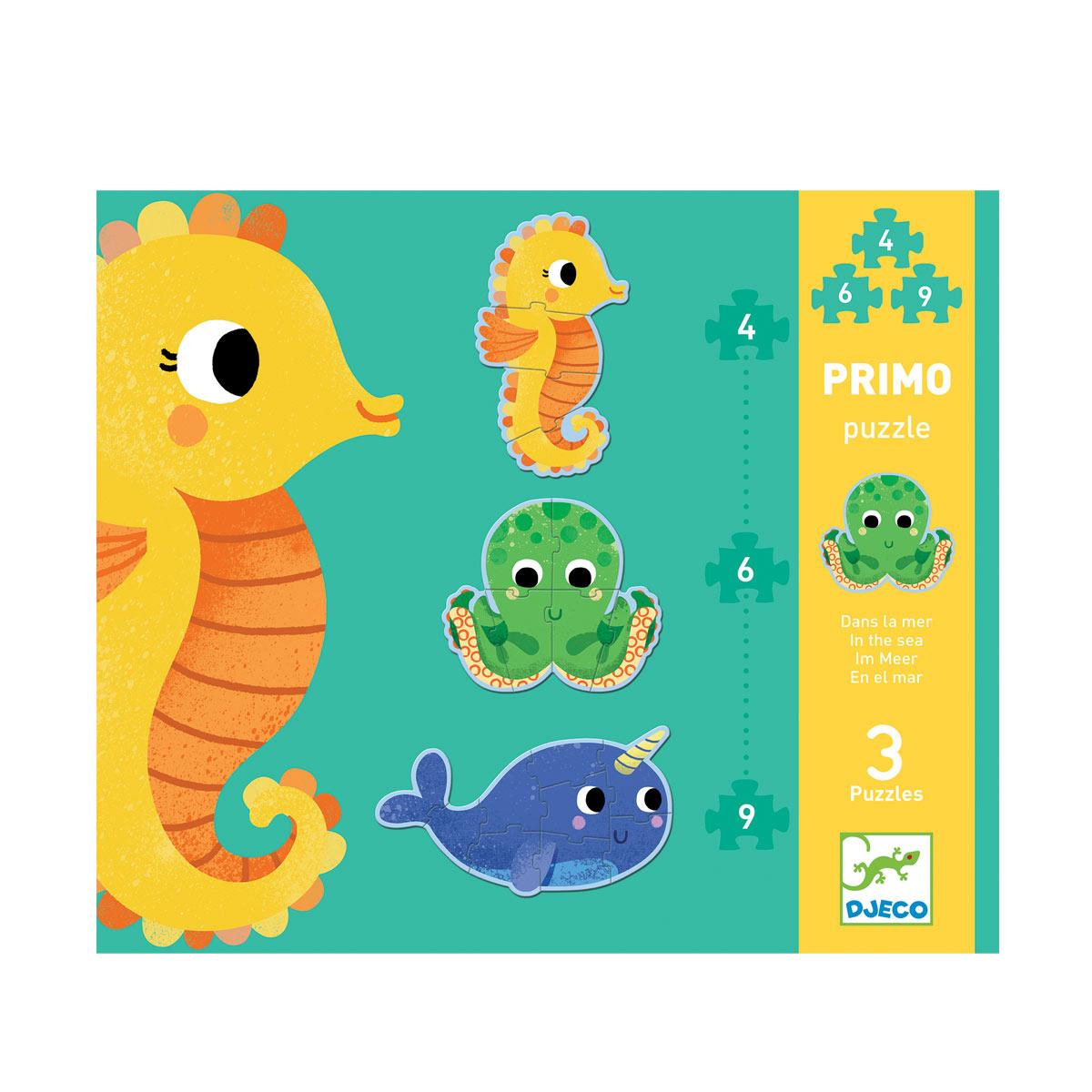 Puzzle évolutifs Primo dans la mer 4,6,9 pièces