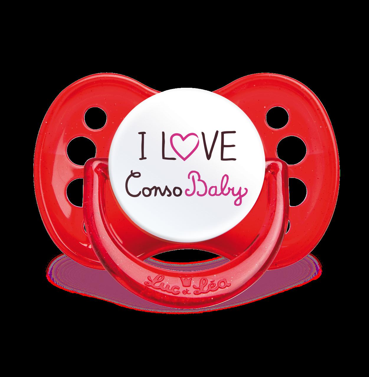 Sucette I Love ConsoBaby LUC ET LEA