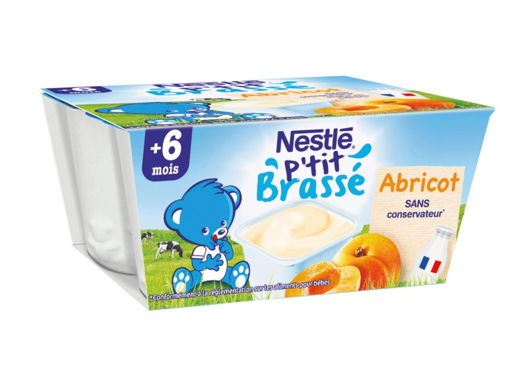 Mini Brassé Abricot P'tit Brassé (6x60g)