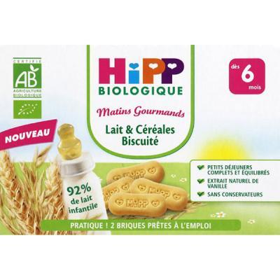 Lait et céréales biscuité 6 mois HIPP