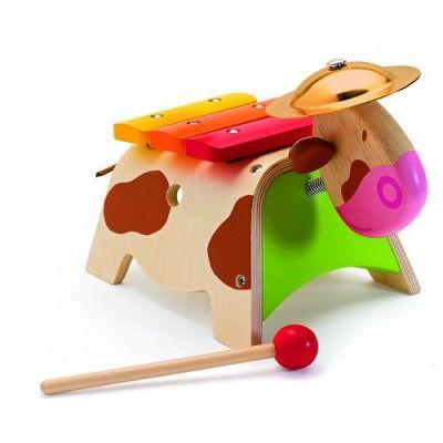 Xylophone et cymbale Doremin la vache