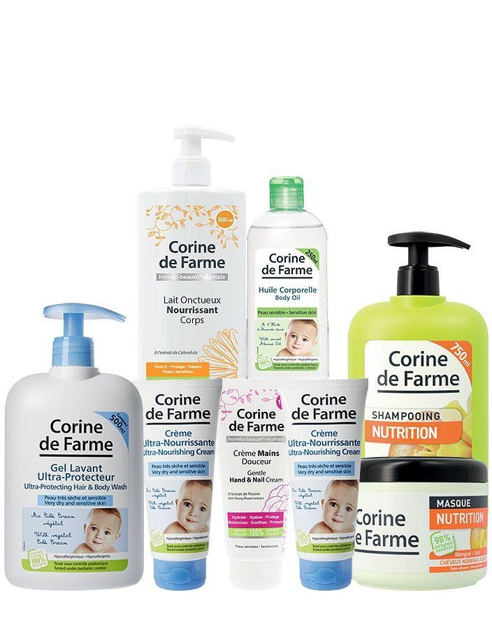 Kit hydratation pour bébé et maman CORINE DE FARME