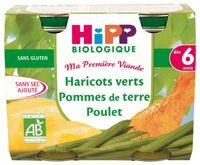 Haricots verts Pommes de terre Poulet - 2 pots 190g - 6 mois