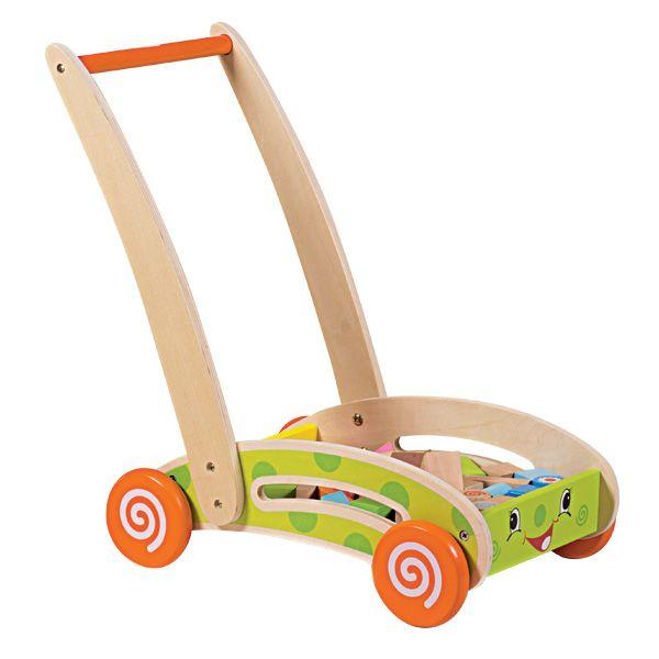 Chariot en bois avec blocs de construction WOOD N PLAY