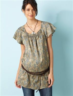 Blouse coton et soie de grossesse