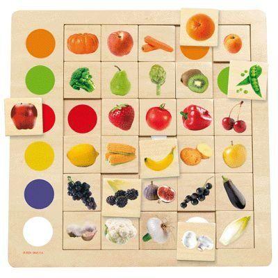 Jeu Association Couleurs - Fruits