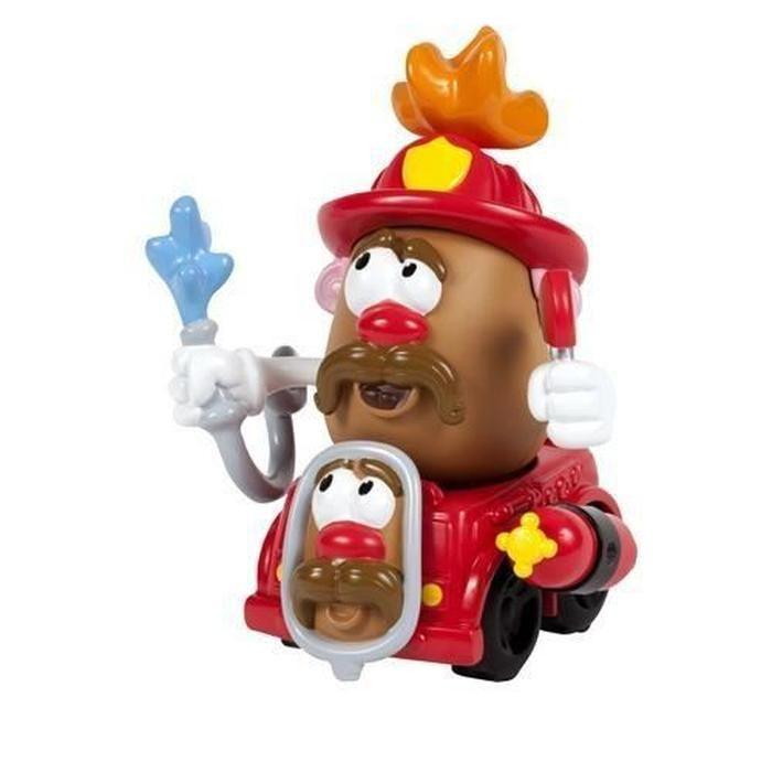 Véhicule et mini figurine Mr Patate Fireman Potato