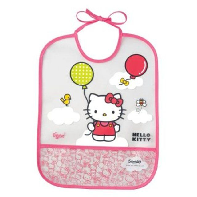 Bavoir en plastique Hello Kitty