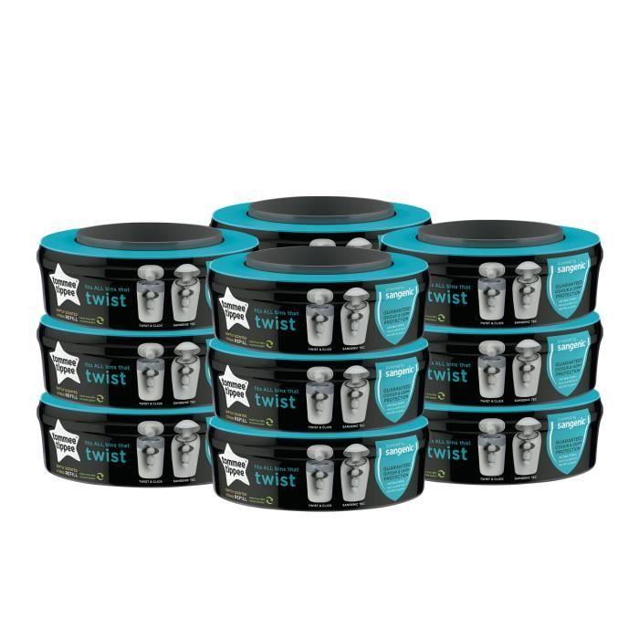 12 recharges pour poubelle à couches Sangenic