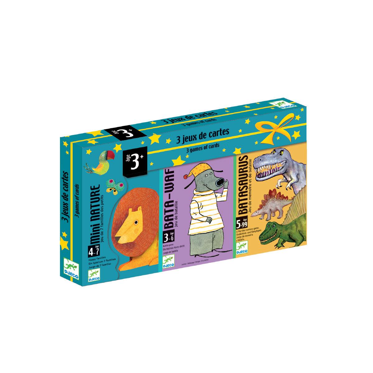 Coffret 3 jeux Batawaf Mini Nature Batasaurus
