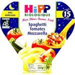 Menu Bonne nuit Spaghetti Tomates Mozzarella - Assiette 230g - 12 mois