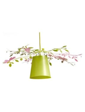 Decoration Abat-jour feuilles fille