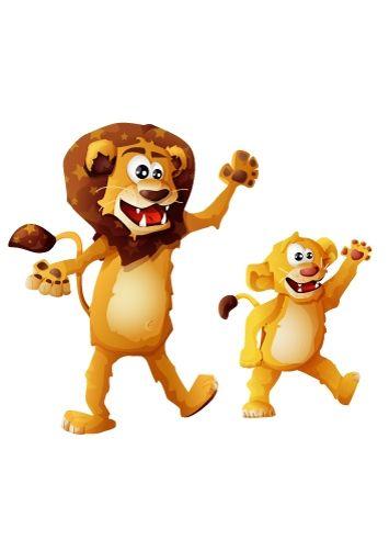 Stickers Lion et lionceau IDZIF