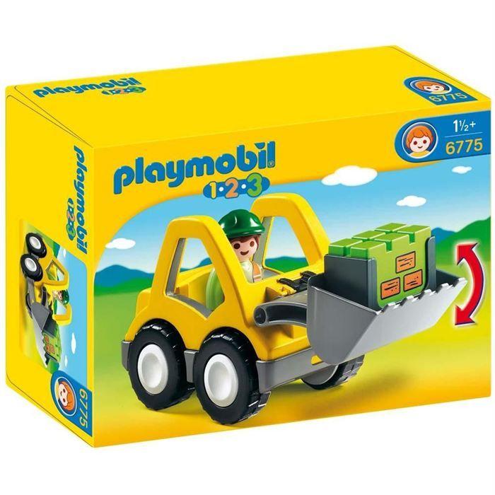 Playmobil 1.2.3 - Le chargeur et l'ouvrier