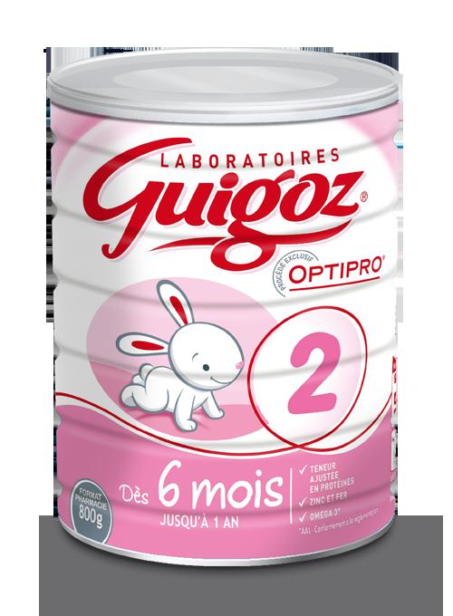 Lait 2ème âge Optipro dès 6 mois GUIGOZ