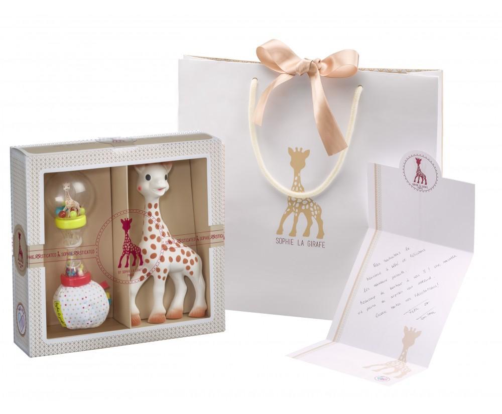 Coffret Sophiesticated - Sophie la girafe + hochet soft maracas VULLI