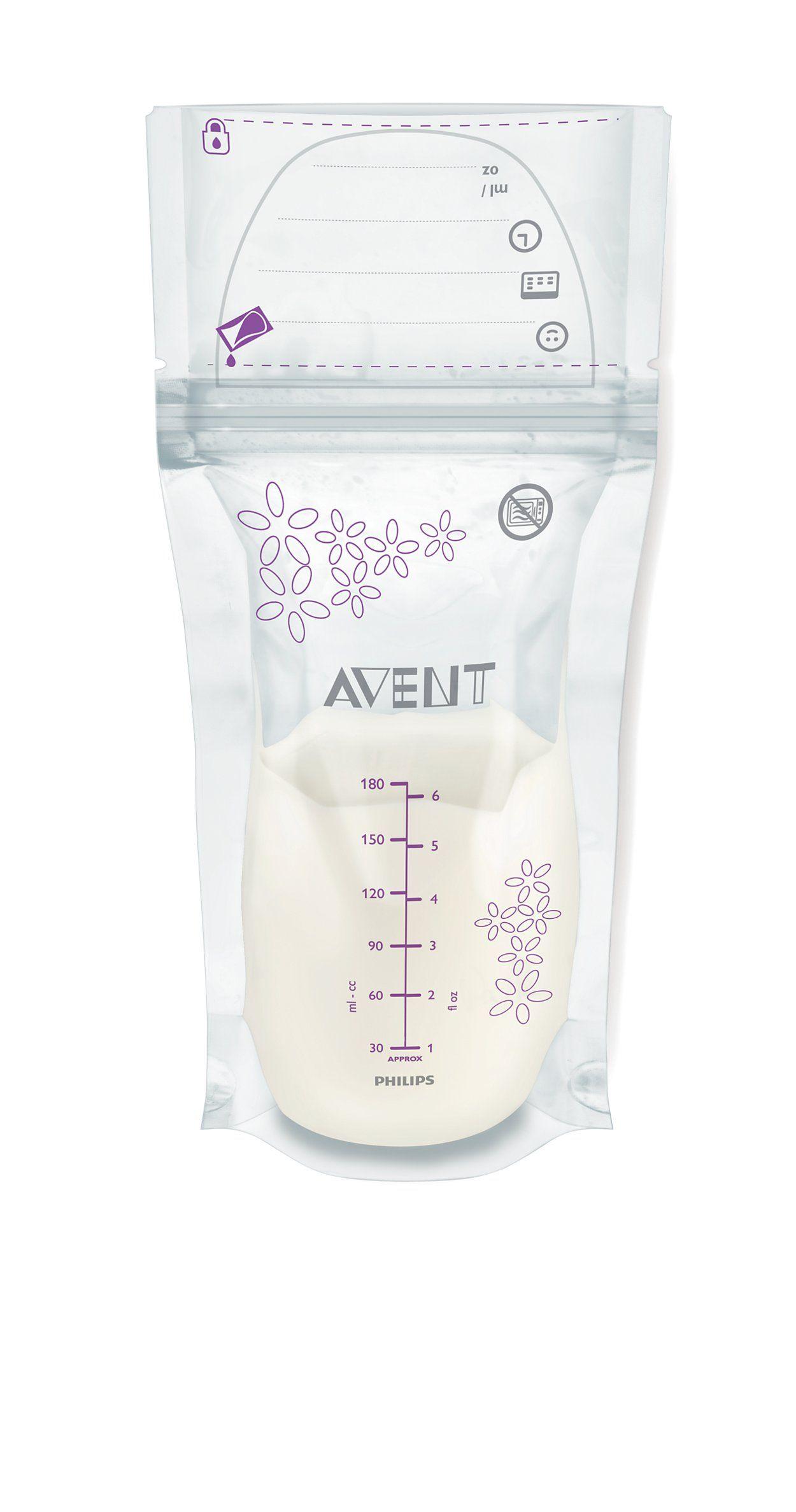 Sachets de conservation du lait maternel