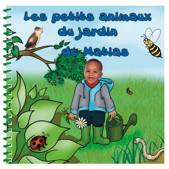 Livre personnalisé pour enfant et sa famille : Les animaux du jardin