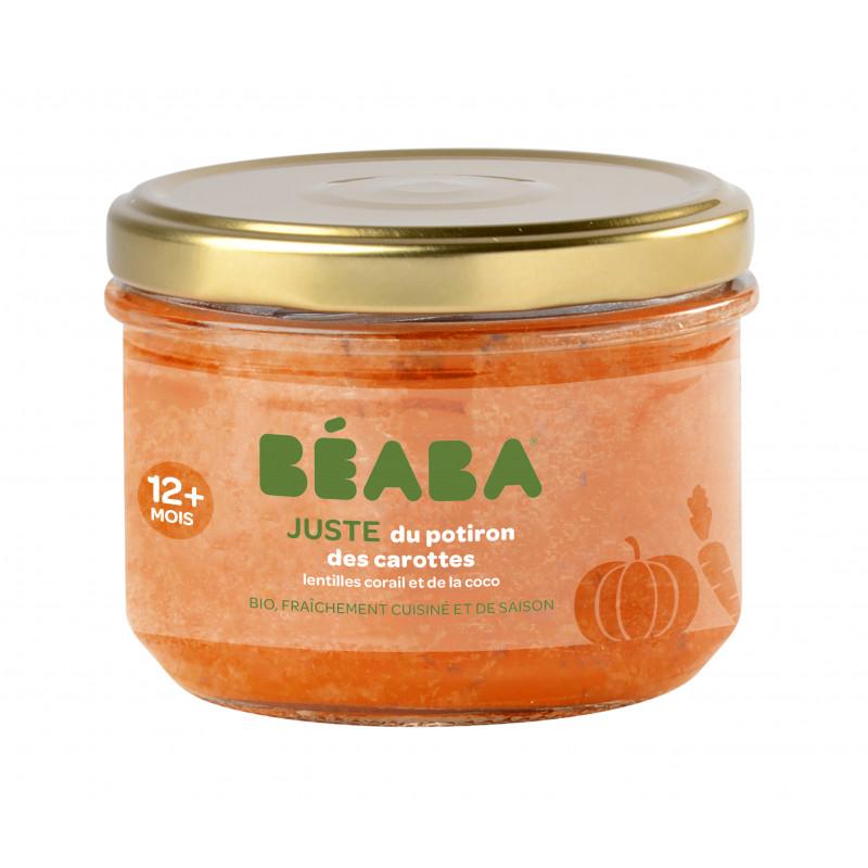 Petit pot Juste une purée de potiron, carottes, lentilles corail et lait de coco BEABA