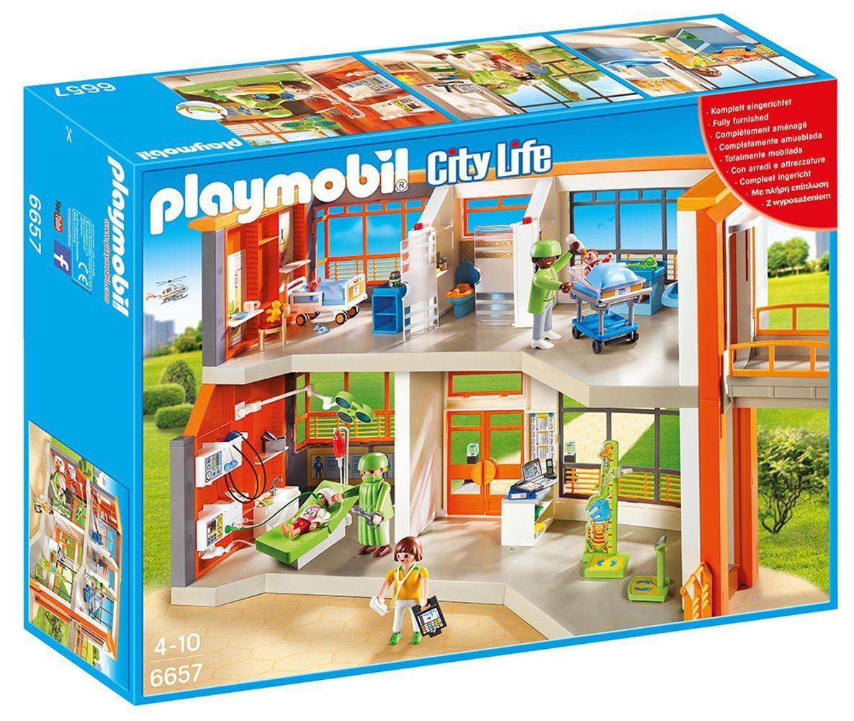 Playmobil City Life - Hôpital pédiatrique aménagé