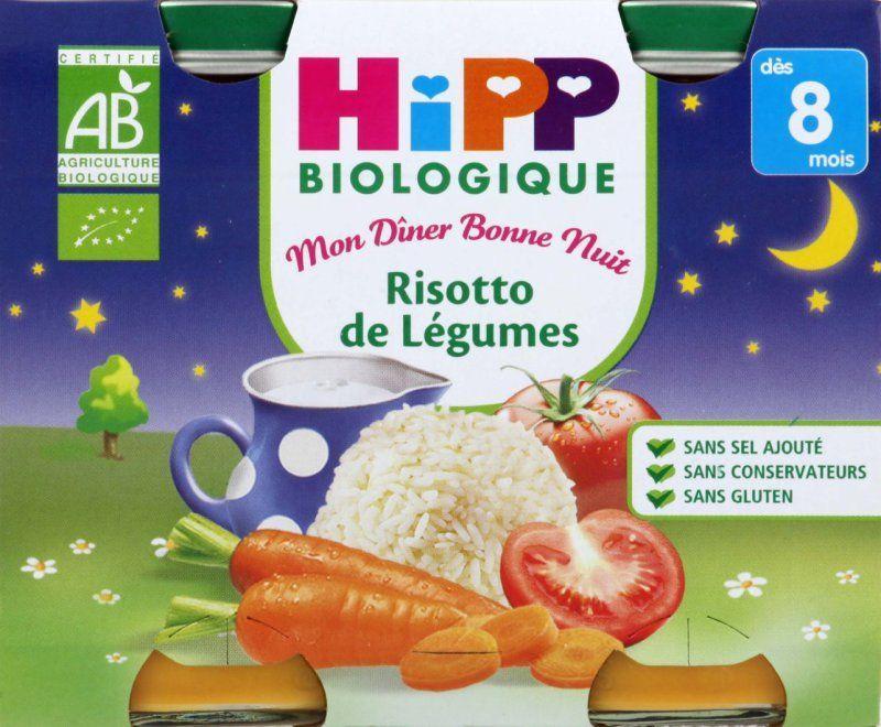 Menu Bonne Nuit Risotto de Légumes - 2 pots x 190g - 8 mois