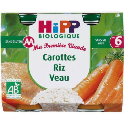 Carottes Riz Veau - 2 pots 190g - 6 mois
