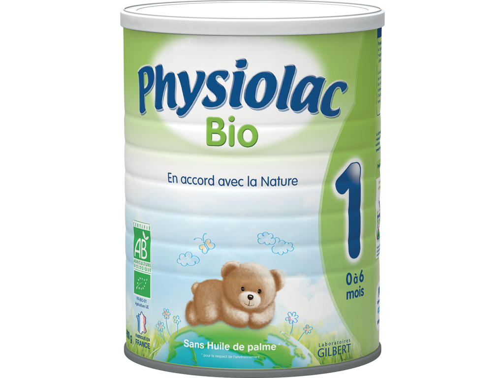 Lait Physiolac 1 Bio 900 g