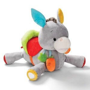Grande peluche d'activités L'âne Titus